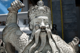 stone figure at Wat Phra Kaew ancient temple in Thailand Bangkok kings palace