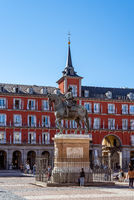 The Plaza Mayor or Main Square of Madrid