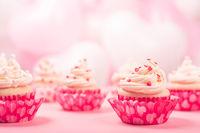 Valentine day love cupcakes