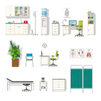 Set of various medical furniture