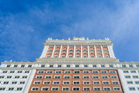 Low angle view of Riu Plaza Espana Hotel in Madrid