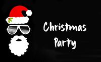 Santa Claus Paper Mask, Black Background, Text Christmas Party