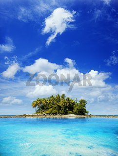 Picturesque tropical island in sunny day