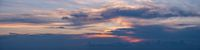 Sunset sky with clouds  panorama