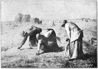 The Gleaners (Des glaneuses) is a painting by French artist Jean-Francois Millet.