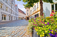 Ansbach. Old town of Ansbach picturesque street view