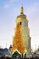 New Year Tree Kiev Ukraine