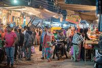 Sardar Market at night in Jodhpur, India