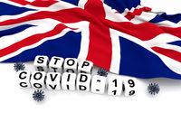 Great Britain and text stop covid-19
