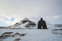 Bardar statue in Arnarstapi, Iceland