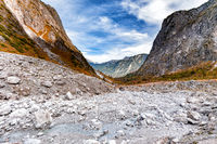 Mountain landscape at the Watzmann massif