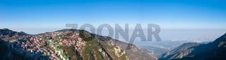 panoramic view of lushan mountain in morning