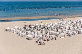 Strand und Strandkörbe in Sellin