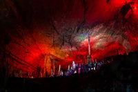 Stunning interior of Huanglong Yellow Dragon Cave