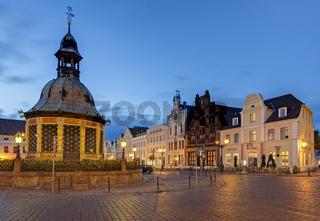 Wasserkunst am Markt, Wismar, Deutschland