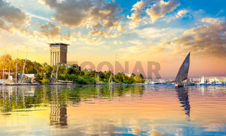 Cloudy sunset over Nile