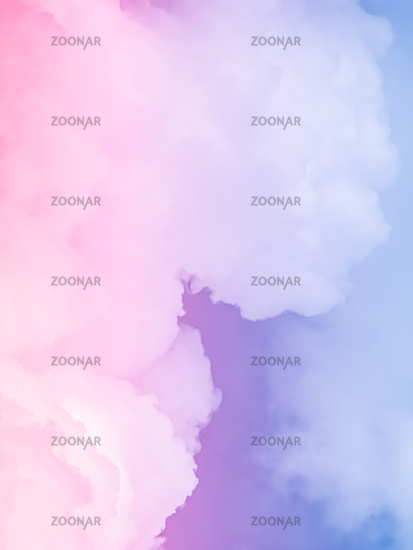 Fantasy pink and blue sky, spiritual and nature background