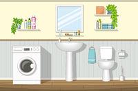 Illustration of a bathroom