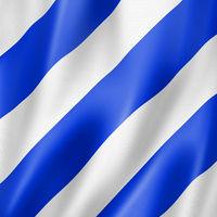 Six international maritime signal flag