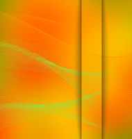 Smooth mesh wave orange and green with cut