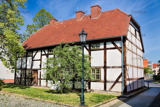 Bernau near Berlin, Germany - 04/30/2019 - cantor house from 1583