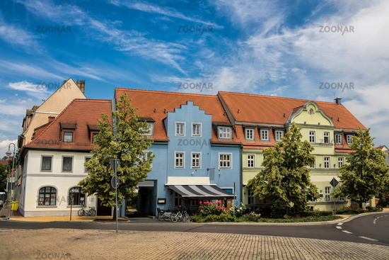 Delitzsch, Germany - June 19, 2019 - renovated old houses
