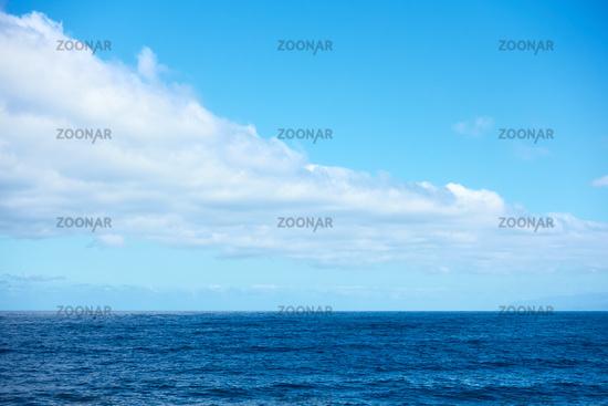Atlantic Ocean and clouds