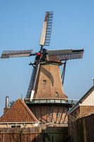 Windmühle auf Texel in Oudeschild