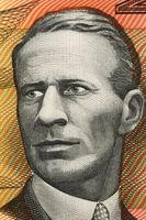 Charles Kingsford Smith (1897-1935) on 20 Dollars 1974 banknote from Australia. Early Australian aviator.
