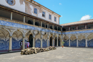Inside the Sao Francisco Church and Convent of Salvador in the State of Bahia, Brazil.