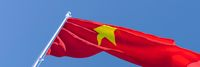 3D rendering of the national flag of Vietnam waving in the wind
