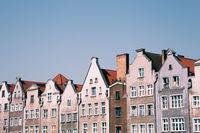 Medieval old houses in Gdansk, Poland