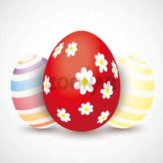 3 Easter Eggs Flowers