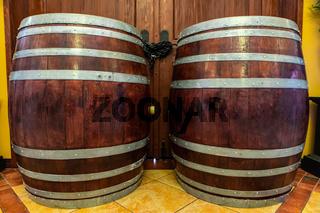 oak brown wooden traditional barrels