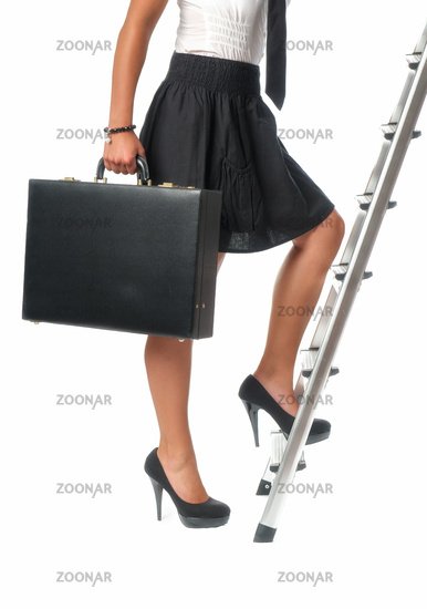 woman on success ladder