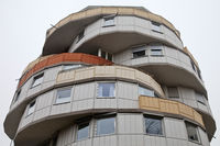The slipped cake, high-rise residential building, Herne, North Rhine-Westphalia, Germany, Europe