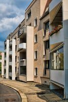 Halle Saale, Germany - June 21, 2019 - new buildings in the city center