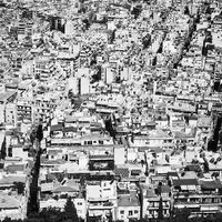 Residential area of Athens City