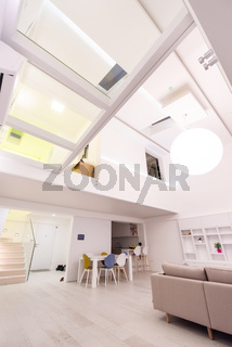 interior of a two level apartment