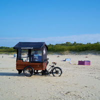 mobile coffee sales on the beach of Swinoujscie on the Polish Baltic Sea coast