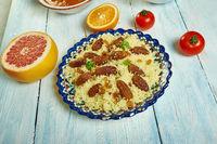 Algerian Saffron and Raisin Couscous