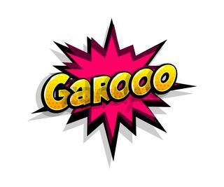 Comic text garooo, grr logo sound effects
