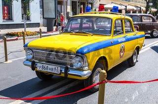 Vintage Soviet police automobile Moskvich 412