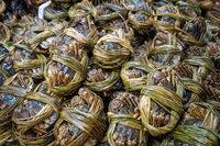 Hairy crabs for sale on seafood market, Hongkong -