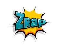 Comic text zrap, zap logo sound effects