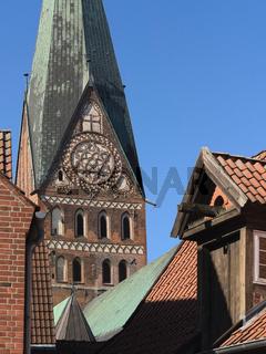 Lüneburg - Turm der St. Johannis-Kirche, Deutschland