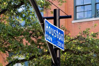 Street sign Houston Street
