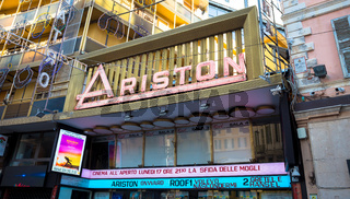 Sanremo Ariston theatre, the famous song festival location
