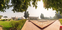 Red Fort of Delhi, inner buildings panorama, India