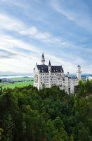 Neuschwanstein Castle in the Bavarian region of Germany